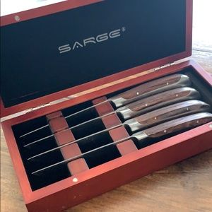 Set of 440 stainless serrated steak knives Sarge